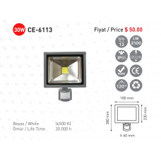 CE light-CE-6113-Sensorlu-Led-Projektor