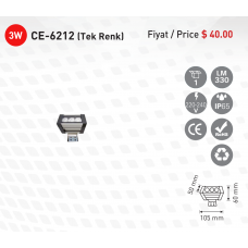 CE-light-CE-6212-Siva-Ustu-Tek-Renk-Trafolu-Led-WallWasher